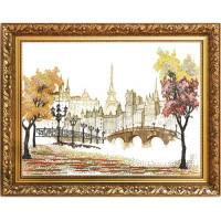 Конёк НИК 8409 Осень в Париже. Рисунок на ткани