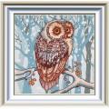 Конёк НИК 8421 Снежная сова. Рисунок на ткани