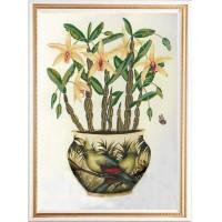 Конёк НИК 9496 Цветы и птицы 2. Схема для вышивания бисером