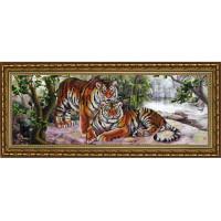 Конёк НИК 9903 Амурские тигры. Рисунок на ткани