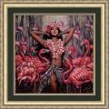 Конёк НИК 9907 Розовый фламинго. Рисунок на ткани