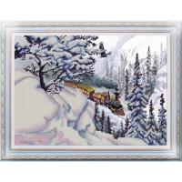 Конёк НИК 9937 Поезд. Схема для вышивания бисером