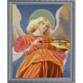 Конёк НИК 9943 Ангел играющий на виоле (Мелоццо да Форли). Схема для вышивания бисером