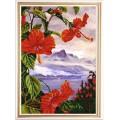Конёк НИК 9964 Экзотические цветы 3. Рисунок на ткани