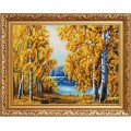 Конёк НИК 9970 Янтарный лес. Рисунок на ткани