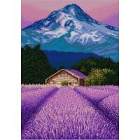 Конёк Лавандовое поле Рисунок на ткани «Лавандовое поле» 1383   29х39 см