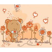 Конёк НИК 8114 Мишка-малышка. Схема для вышивания бисером