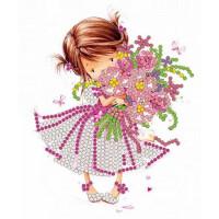 Конёк НИК 8115 Розовый букет. Схема для вышивания бисером