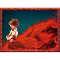 Конёк НИК9462 Леди в красном. Схема для вышивания бисером