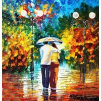 Конёк НИК9472 Под дождём. Схема для вышивания бисером