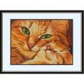 Конёк НИК 9533 Кошка с котёнком. Схема для вышивания бисером