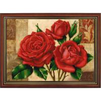 Конёк НИК9867 Красные розы. Схема для вышивания бисером