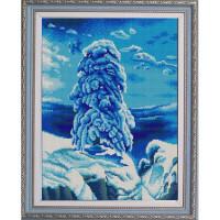 Конёк НИК9880 На севере диком (И. Шишкин). Схема для вышивания бисером