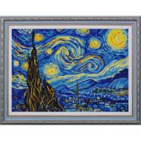 Конёк НИК9887 Звёздная ночь (Ван Гог). Схема для вышивания бисером