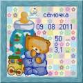 Конёк НИК9893 Метрика для мальчика. Схема для вышивания бисером