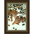 Конёк НИК9901 Пара тигров. Схема для вышивания бисером