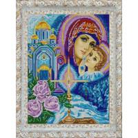 Конёк Схема для вышивания бисером НИК 9733 Богородица Рисунок на ткани «Конёк» 9733 Богородица, 29х39 см
