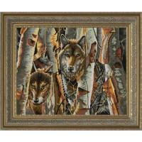 Конёк Схема для вышивания бисером НИК 9822 Волки в лесу Рисунок на ткани «Конёк» 9822 Волки в лесу, 45х60 см