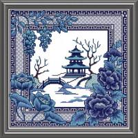 Конёк Схема для вышивания бисером НИК 9910 Восточная страна 40х40 см Рисунок на ткани «Конёк» 9910 Восточная страна, 40х40 см