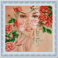 Конёк Схема для вышивания бисером НИК 9925 Поэзия цветов 40х40 см Рисунок на ткани «Конёк» 9925 Поэзия цветов, 40х40 см