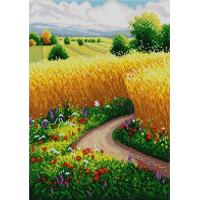 Конёк Золотое поле 1384 Рисунок на ткани «Золотое поле» 1384   29х39 см