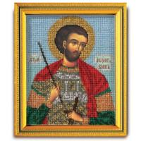 Кроше (Радуга бисера) N0001791 В-323 Набор для вышивания бисером Кроше 'Св. Иоанн воин', 14,5x12см