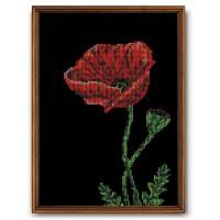 Кроше (Радуга бисера) В-138, Аленький цветочек, 25х30см Набор для вышивания «Радуга бисера» В-138 Аленький цветочек