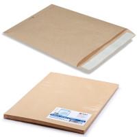 КУРТ 161150.25 Конверт-пакеты С4 плоские (229х324 мм), до 90 листов, крафт-бумага, отрывная полоса, КОМПЛЕКТ 25 шт., 161150.25