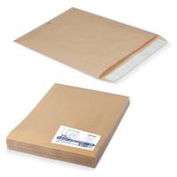 КУРТ 312017.25 Конверт-пакеты Е4+ плоские (300х400 мм), до 300 листов, крафт-бумага, отрывная полоса, КОМПЛЕКТ 25 шт., 312017.25