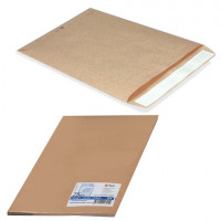 КУРТ 357707.25 Конверт-пакеты С5 плоские (162х229 мм), до 90 листов, крафт-бумага, отрывная полоса, КОМПЛЕКТ 25 шт., 357707.25