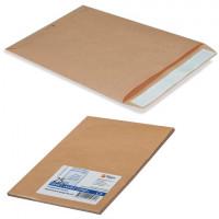 КУРТ 380090.25 Конверт-пакеты В4 плоские (250х353 мм), до 140 листов, крафт-бумага, отрывная полоса, КОМПЛЕКТ 25 шт., 380090.25