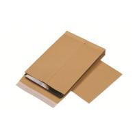 КУРТ 381227.25 Конверт-пакеты С4 объемные (229х324х40 мм), до 250 листов, крафт-бумага, отрывная полоса, КОМПЛЕКТ 25 шт., 381227.25