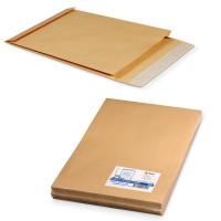 КУРТ 391157.25 Конверт-пакеты В4 объемный (250х353х40 мм), до 300 листов, крафт-бумага, отрывная полоса, КОМПЛЕКТ 25 шт., 391157.25