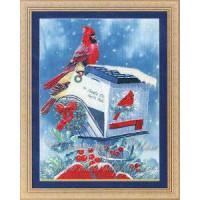 Kustom Krafts 037 Набор для вышивания Kustom Krafts NNT-037 Рождественские кардиналы р-р 25х33 см