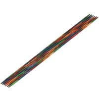 Lana Grossa 2.00 длина 15 см. Спицы чулочные дерево Multicolor, 15 см, 2.00 длина 15 см.