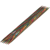 Lana Grossa 3.00 длина 15 см. Спицы чулочные дерево Multicolor, 15 см, 3.00 длина 15 см.