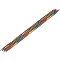 Lana Grossa 4.50 длина 20 см. Спицы чулочные, дерево Multicolor, длина 20 см, 4.50 длина 20 см.