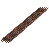 Lana Grossa 5.50 длина 20 см. Спицы чулочные, дерево Multicolor, длина 20 см, 5.50 длина 20 см.