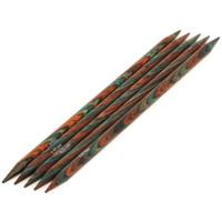 Lana Grossa 6.50 длина 20 см. Спицы чулочные, дерево Multicolor, длина 20 см, 6.50 длина 20 см.