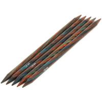 Lana Grossa 7.00 длина 20 см. Спицы чулочные, дерево Multicolor, длина 20 см, 7.00 длина 20 см.