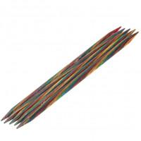 Lana Grossa 8.00 длина 20 см. Спицы чулочные, дерево Multicolor, длина 20 см, 8.00 длина 20 см.