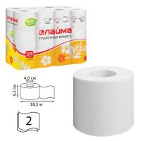ЛАЙМА 128719 Бумага туалетная бытовая, спайка 24 шт., 2-х слойная (24х18,5 м), ЛАЙМА, белая, 128719
