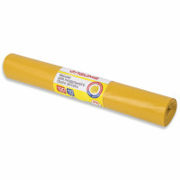 ЛАЙМА 3842 Мешки для раздельного сбора мусора 120 л, желтые, в рулоне 10 шт., ПВД 38 мкм, 70х108 см, LAIMA, 606705, 3842