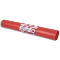 ЛАЙМА 3859 Мешки для раздельного сбора мусора 120 л красные в рулоне 10 шт., ПВД 38 мкм, 70х108 см, LAIMA, 606706, 3859