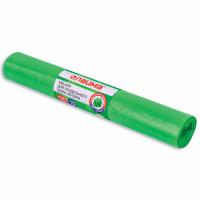 ЛАЙМА 3873 Мешки для раздельного сбора мусора 120 л зеленые в рулоне 10 шт., ПВД 38 мкм, 70х108 см, LAIMA, 606708, 3873