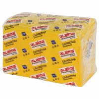 """ЛАЙМА  Салфетки бумажные 400 шт., 24х24 см, LAIMA, """"Big Pack"""", желтые (интенсив), 100% целлюлоза, 111794"""