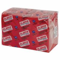 """ЛАЙМА  Салфетки бумажные 400 шт., 24х24 см, LAIMA, """"Big Pack"""", красные (интенсив), 100% целлюлоза, 111795"""