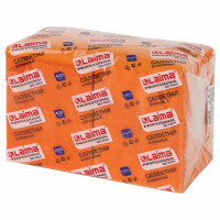 "ЛАЙМА  Салфетки бумажные 400 шт., 24х24 см, LAIMA, ""Big Pack"", оранжевые (интенсив), 100% целлюлоза, 111797"