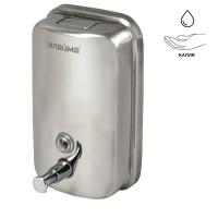 ЛАЙМА 601796 Диспенсер для жидкого мыла LAIMA PROFESSIONAL BASIC, 1 л, нержавеющая сталь, зеркальный, 601796