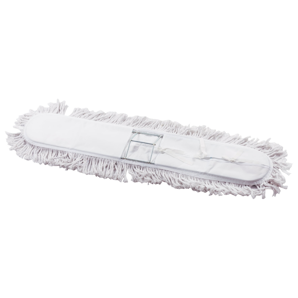 Швабра-рамка 90 см, стальной черенок 125 см, цельный держатель, МОП с завязками, хлопок, LAIMA, 603603 (арт. 603603)